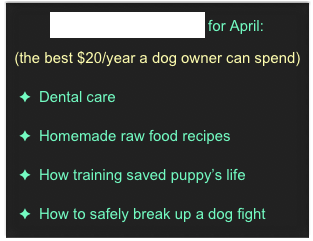 Whole Dog Journal for April: